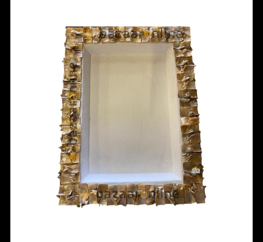 Schelp Dienblad 30x40 cm - Wit