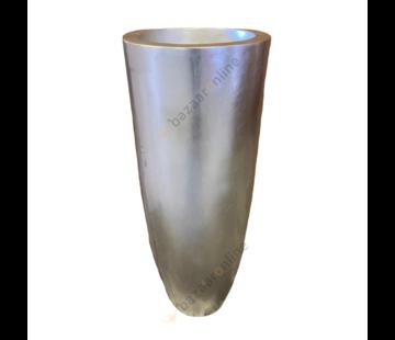 Pot Romadora 90 cm Zilver