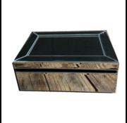 Sieradenbox Sky - klein - 9.5 x 18.5 x 25.5 cm - Zilver/ Spiegelglas