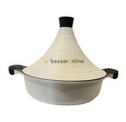 Tajine pan  - Wit- keramisch - anti-aanbaklaag