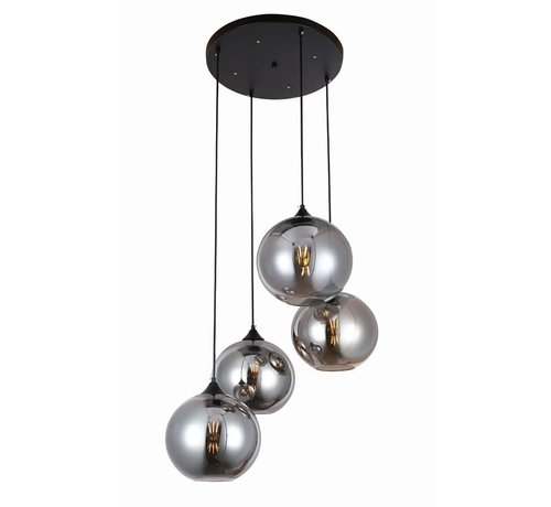 Hanglamp Illusion Smoking glass 4 lichts