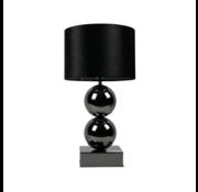 Bollamp - Antraciet - Tafellamp - 2 Bollen - Vierkante Voet