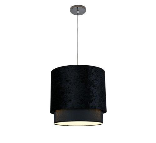 Hanglamp met kap Zwart Velours - Medium - Eric Kuster Stijl