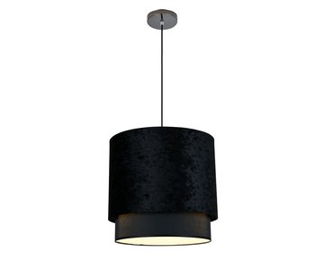 Hanglamp met kap Zwart Velours - Large - Eric Kuster Stijl