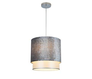 Hanglamp met kap Grijs Velours - Medium - Eric Kuster Stijl