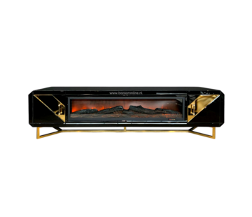 TV-meubel Awanos Spiegel Glas -  Goud