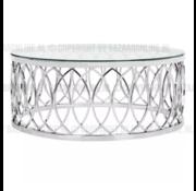 Salontafel Lowa Zilver - Transparant glas