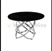 Eettafel Calvin Zilver Zwart glas
