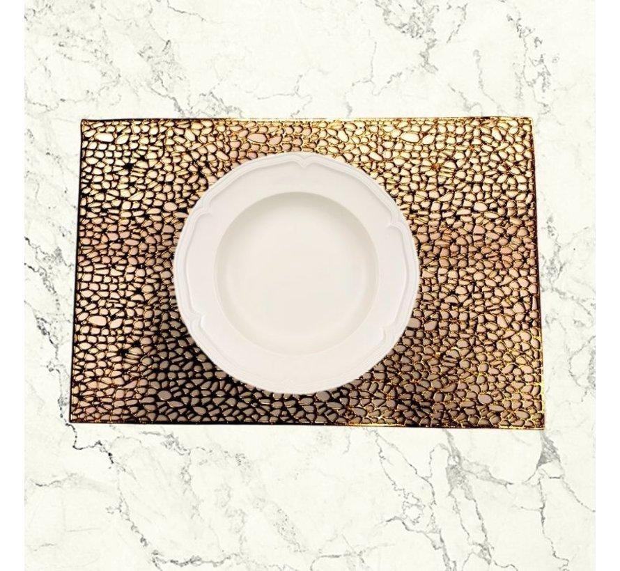 Placemat Veins Goud 30 x 45 cm