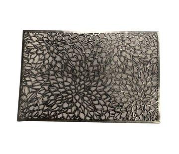 Placemat Pioen Zilver 30 x 45 cm
