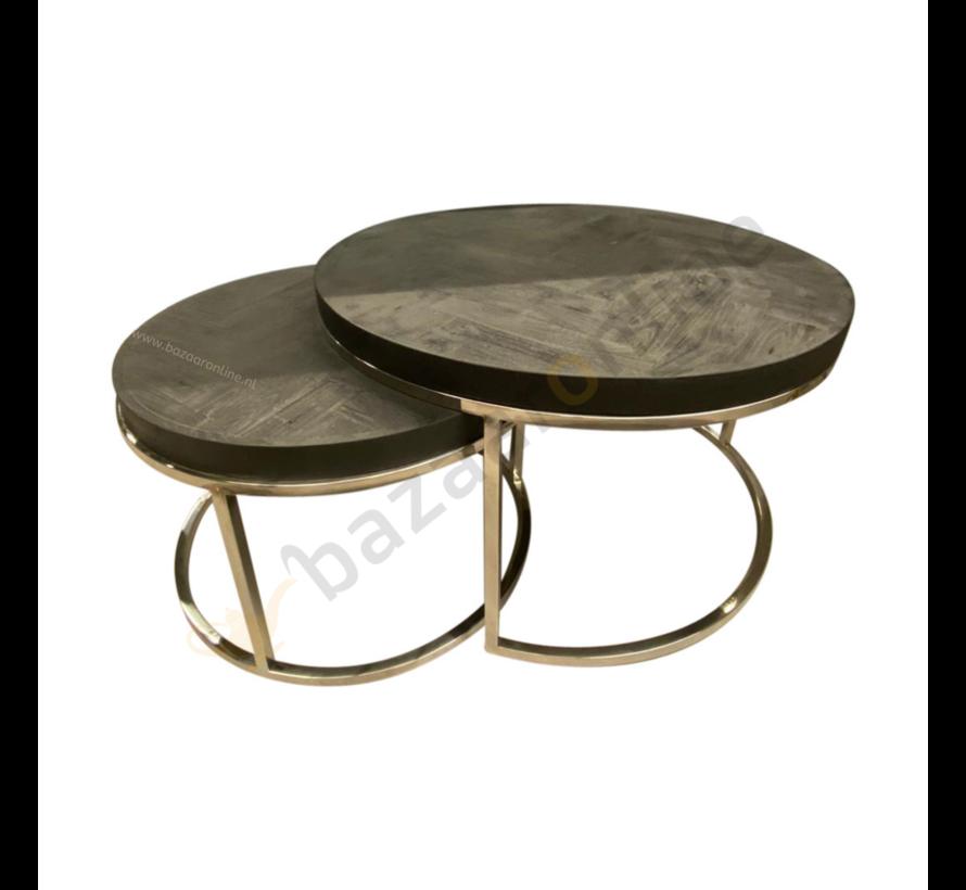Salontafel Doblo Black Bonito set van 2
