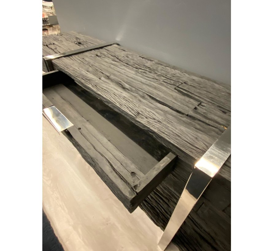 Wandmeubel Rixos Black Sleeper Wood met lades 180 x 80 cm