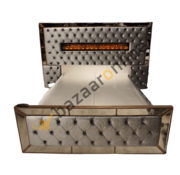 Boxspring Dubai Metallic Grey