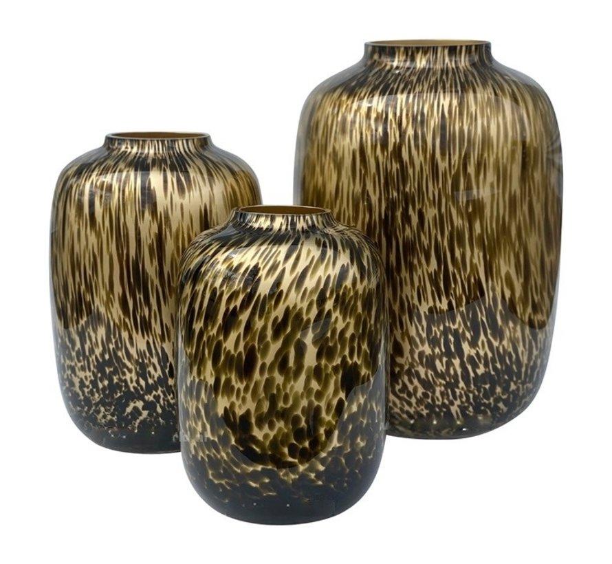 Cheetah vaas - large - goud - Art - Ø32,5 x H45 cm