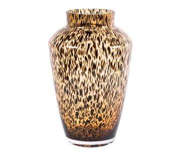 Hud cheetah vaas - medium - goud