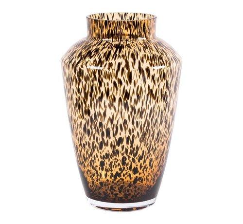 Hud cheetah vaas - medium - goud - Ø22,5 x H35 cm
