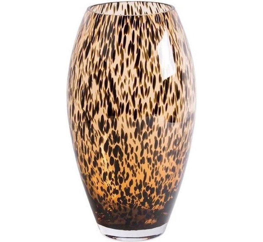 Uba cheetah vaas - goud - Ø17 x H30 cm