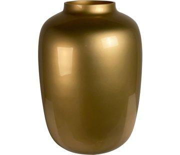Art Gold vase  - medium - goud