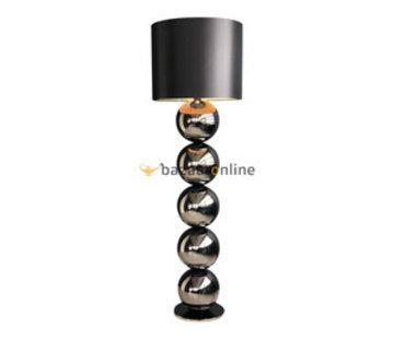 Bollenlamp - Antraciet - Vloerlamp - Ronde Voet - brede bollen