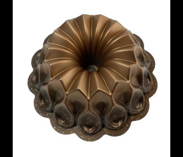 Cakevorm - Brons/Zwart - Flower - Bakvorm