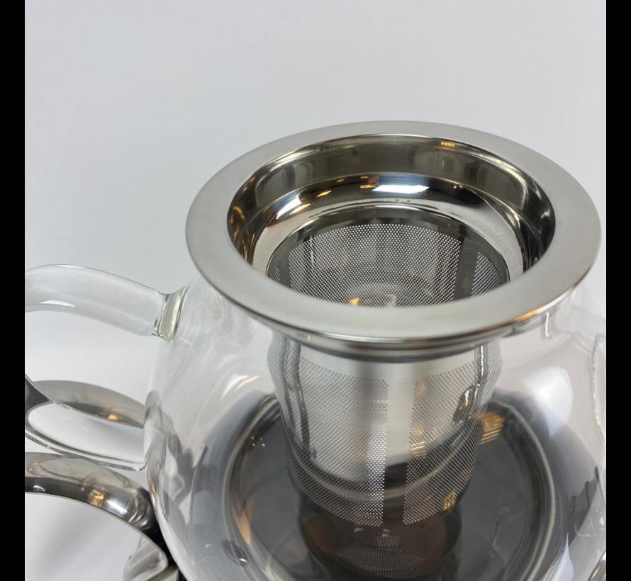 Dubbele Theepot - Zwart- Caydanlik - 2 Delig - 980/2300 ml