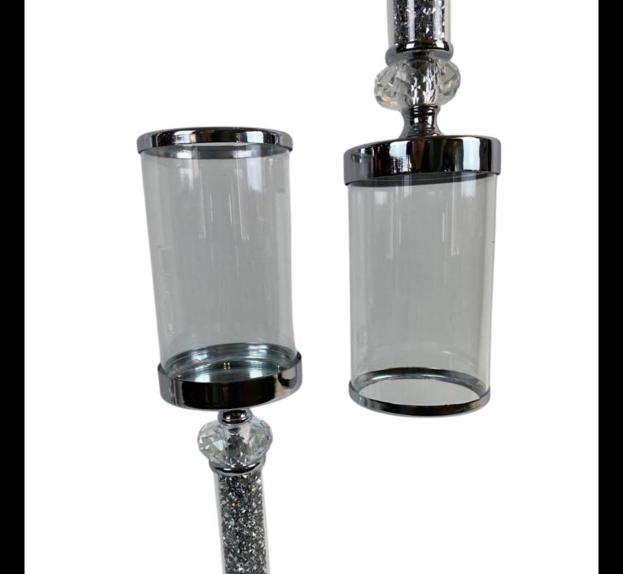 Kandelaar Blitz - Klein - Zilver - H35 cm