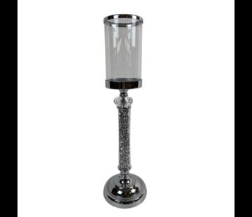 Kandelaar Blitz - Middel - Zilver - H40 cm