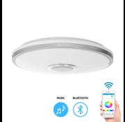Smart plafondlamp - Bluetooth speaker -  incl. LED kleuren