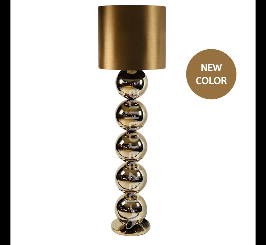 Bollenlamp - Sepia - Vloerlamp - Ronde Voet - brede bollen