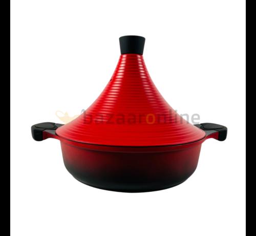 Tajine pan  - Rood - keramisch - anti-aanbaklaag