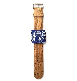 S.T.A.M.P.S Watchband Cork Bamboo