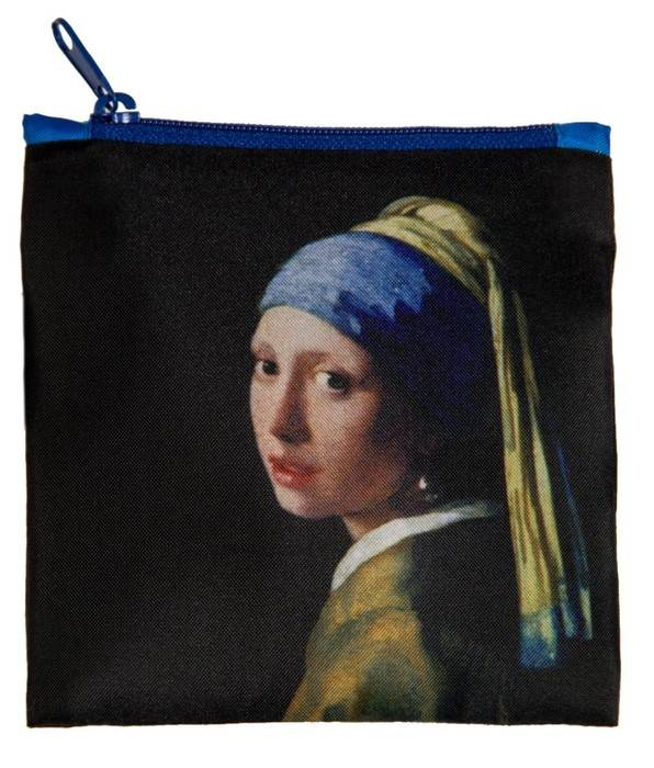 LOQI Foldable Shopper Museum Girl with a Pearl Earring