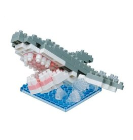 Nano Blocks Building Kit White shark Splash