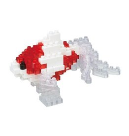 Nano Blocks Building Kit Wakin Goldfish Red