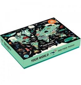 Mudpuppy Puzzel Jouw Wereld 1000st