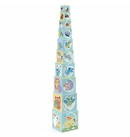 Djeco Stacking Tower Babybloki