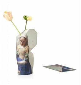 Pepe Heykoop Papier Vase Abdeckung Milkmaid by Vermeer Groß