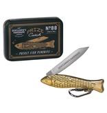 Gentlemen's Hardware Taschenmesser Fisch aus Messing