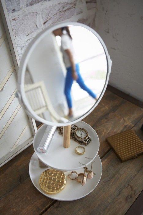 Yamazaki Zubehörhalter mit Spiegel Tosca