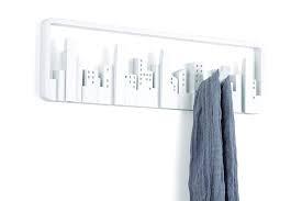 Umbra Cubist Wandrek : Umbra coat rack skyline multi hook white kado in huis