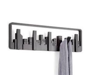Umbra Cubist Wandrek : Umbra coat rack skyline multi hook black kado in huis