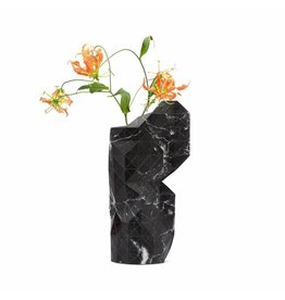 Pepe Heykoop Paper Vase Cover Marble Black Large