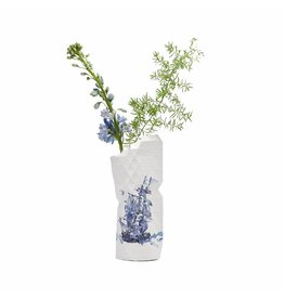 Pepe Heykoop Paper Vase Cover Delft Blue Small
