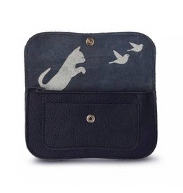 Keecie Wallet Cat Chase Medium Ink Blue