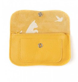 Keecie Wallet Cat Chase Medium Yellow