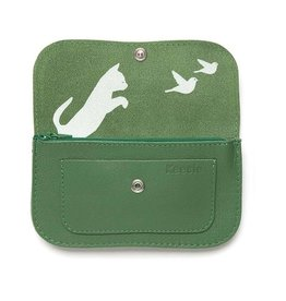 Keecie Wallet Cat Chase Medium Forest