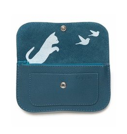 Keecie Wallet Cat Chase Medium Faded Blue