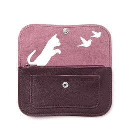 Keecie Wallet Cat Chase Medium Aubergine
