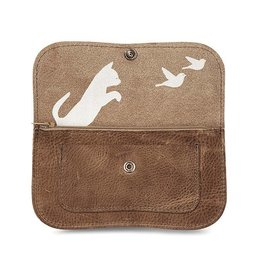 Keecie Wallet Cat Chase Medium Moss Used Look