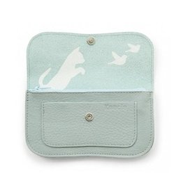 Keecie Wallet Cat Chase Medium Dusty Green
